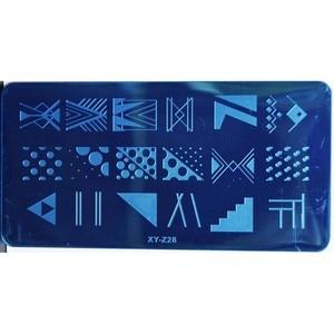Image 4 - 1PCS 20 Designs Nail Stamping Plates Fashion Geometric Dot Square Triangle Line Pattern Templates for Polish Nail Stamp XYZ19 32