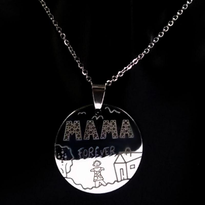 Οικογένεια Κολιέ Ανοξείδωτη Mama Forever Boy - Κοσμήματα μόδας - Φωτογραφία 3