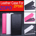new arrival best quality zopo zp590 case flip up and down leather case