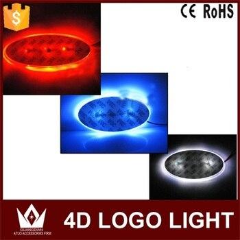 Tcart 1 Set Front Auto Achter Embleem Lamp 4d Auto Logo Badge Auto