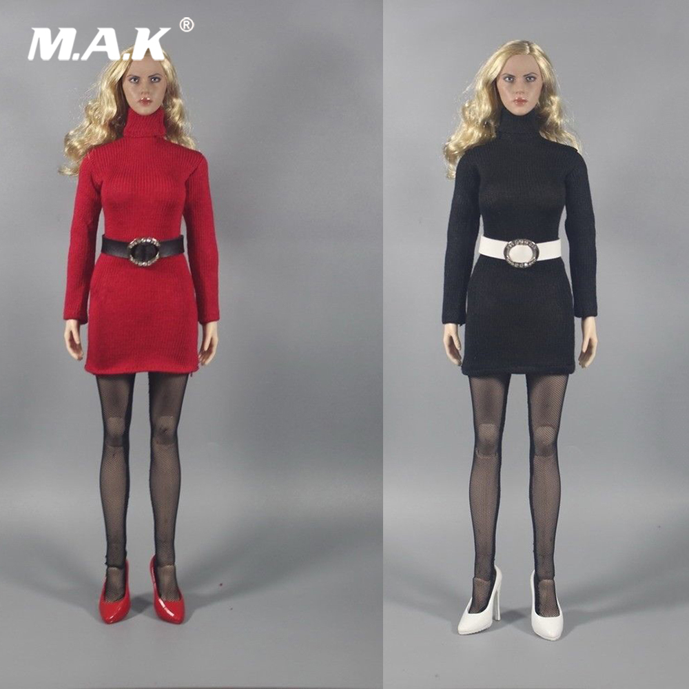 1/6 Scale Womens Turtleneck Sweater & Stockings Set Model Red/Black Coat Clothing Suit for 12 inches Female Action Figure Body1/6 Scale Womens Turtleneck Sweater & Stockings Set Model Red/Black Coat Clothing Suit for 12 inches Female Action Figure Body