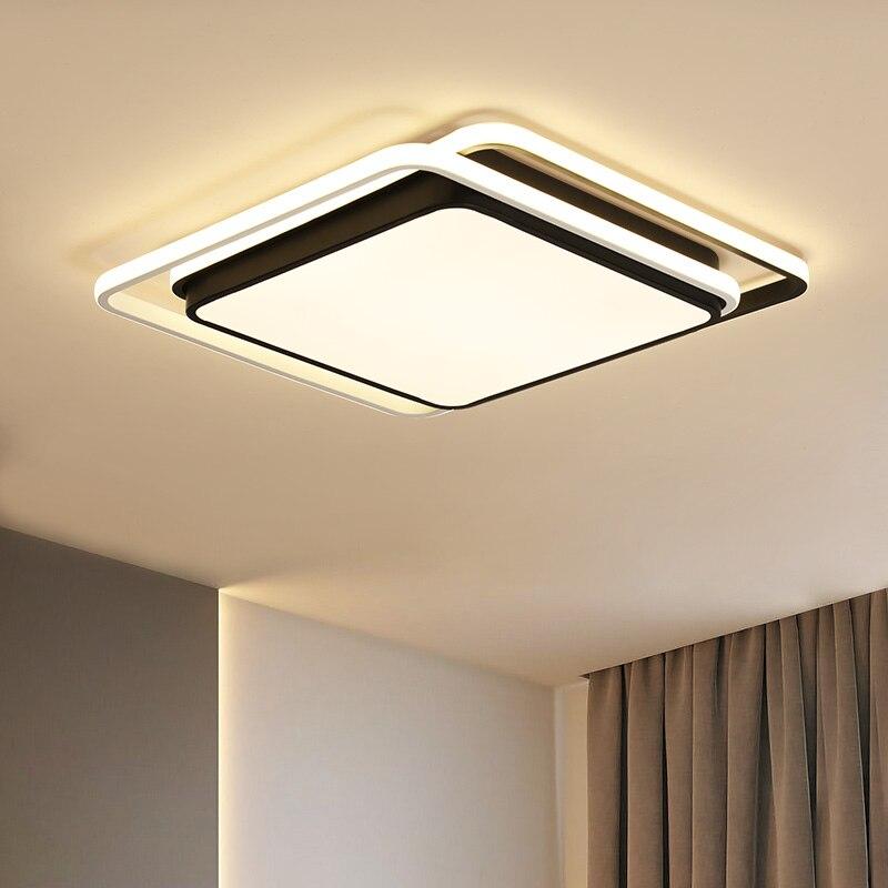 Éclairage de Lustre pour salon chambre Lustre Rectangle Lustre AC85-265V lamparas de techo Lustre Plafon Led Par