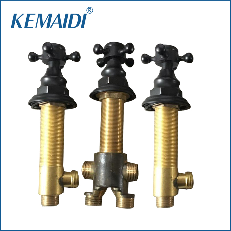 KEMAIDI Good Quality Hot And Cold Water Control Valve For Faucet Bathroom Mixer Valve Tap Handle Bathroom Accessaries manual control valve f56d for water filter on sale