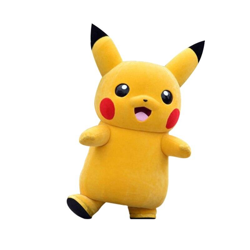 Topo da Classe de Luxo Pikachu Traje Da Mascote Dos Desenhos Animados Trajes Mascote Traje Terno Vestido Extravagante Do Partido