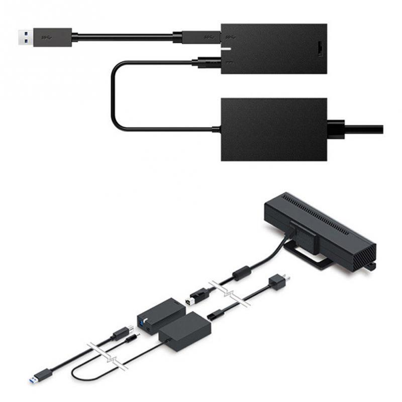 все цены на For Kinect 2.0 Sensor US EU plug black USB 3.0 Adapter For Xbox One S Xbox One X Windows PC