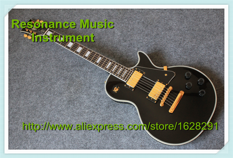 Top Selling Chinese Black Beauty Guitar Custom LP Gold Hardware China Guitars In Stock new arrival 1960s corvette lp electric guitar in black china lp guitars lefty available
