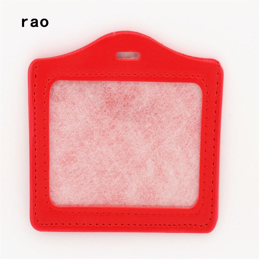 Роскошное Качество, 617 из искусственной кожи, материал, рукава для карт, наборы, ID значок, чехол, прозрачный, банк, держатель для кредитных карт, для школы, студента, офиса - Цвет: A1