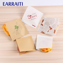 1000 Pcs 15x15cm Trigonometric Kraft Paper Bag Donuts Sandwich Bags For Bakery Bread Food Packaging White Brown Customized