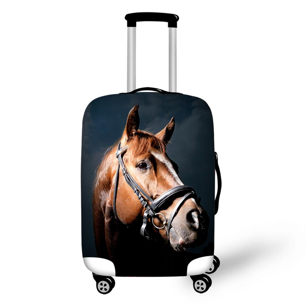 Эластичные Чемодан Защитная крышка относятся к 18-30 дюймов тележка чемодан защиты пыли чехол лошадь печатает дорожные аксессуары