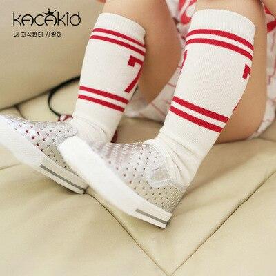 Kacakid newborn girl boy wind small socks striped cotton cute digital handsome cotton stockings