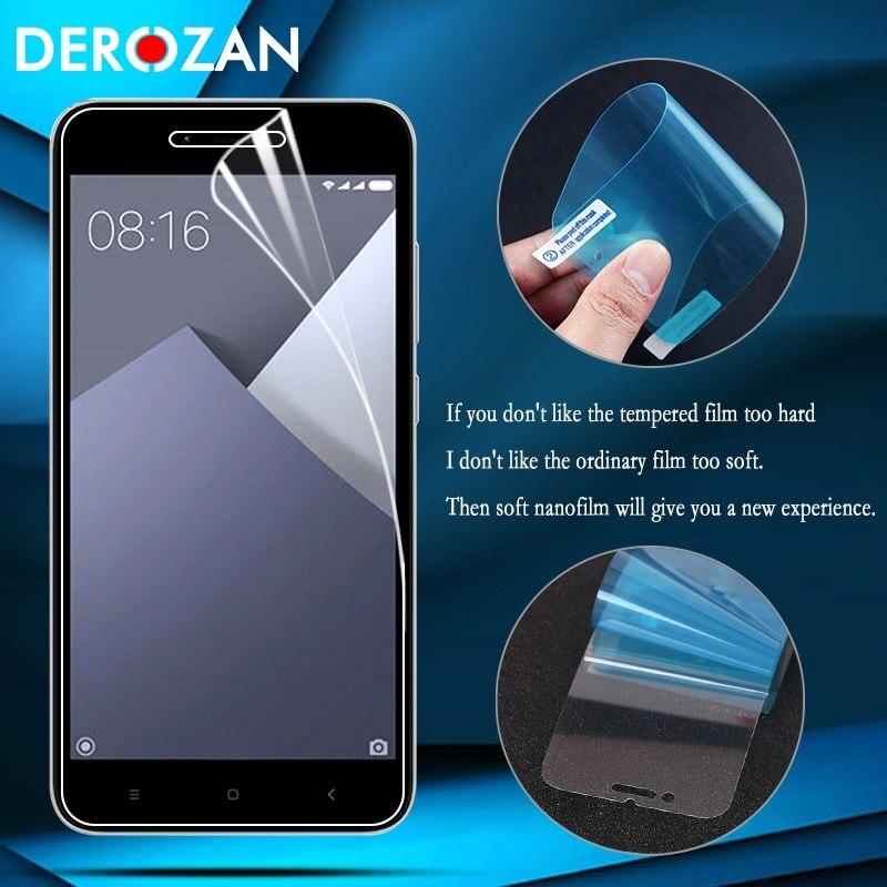 DEROZAN Nano Screen Protector For Xiaomi Redmi 5A Glass Redmi5A Ultra Thin Film Shield Ultrastrong Soft Explosion Proof Membrane