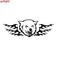 2x Car Wolf Head Vinyl Large Side Graphics Decals Sticker Flame Decal
