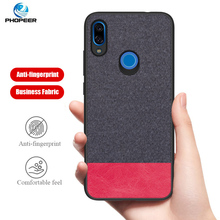 PHOPEER for XiaoMi Redmi Note 7 case cover Note7 Soft silicone fabric cloth protective back