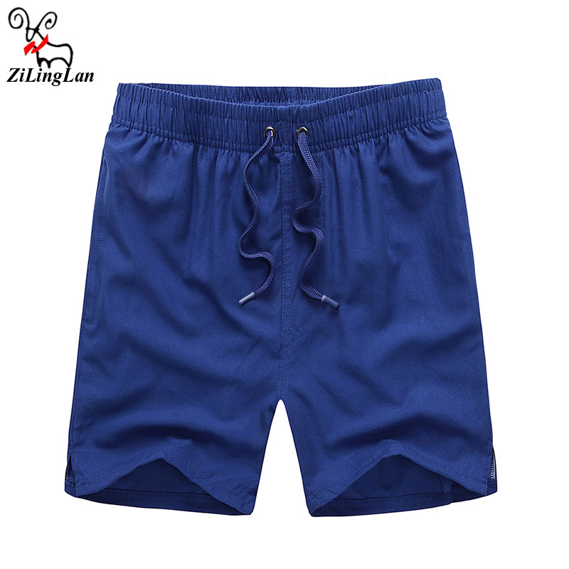ZiLingLan Casual Shorts Breathable Loose Solid Drawstring Men Short Comfortable Shorts Cheap Hot Casual Brand Top Quality
