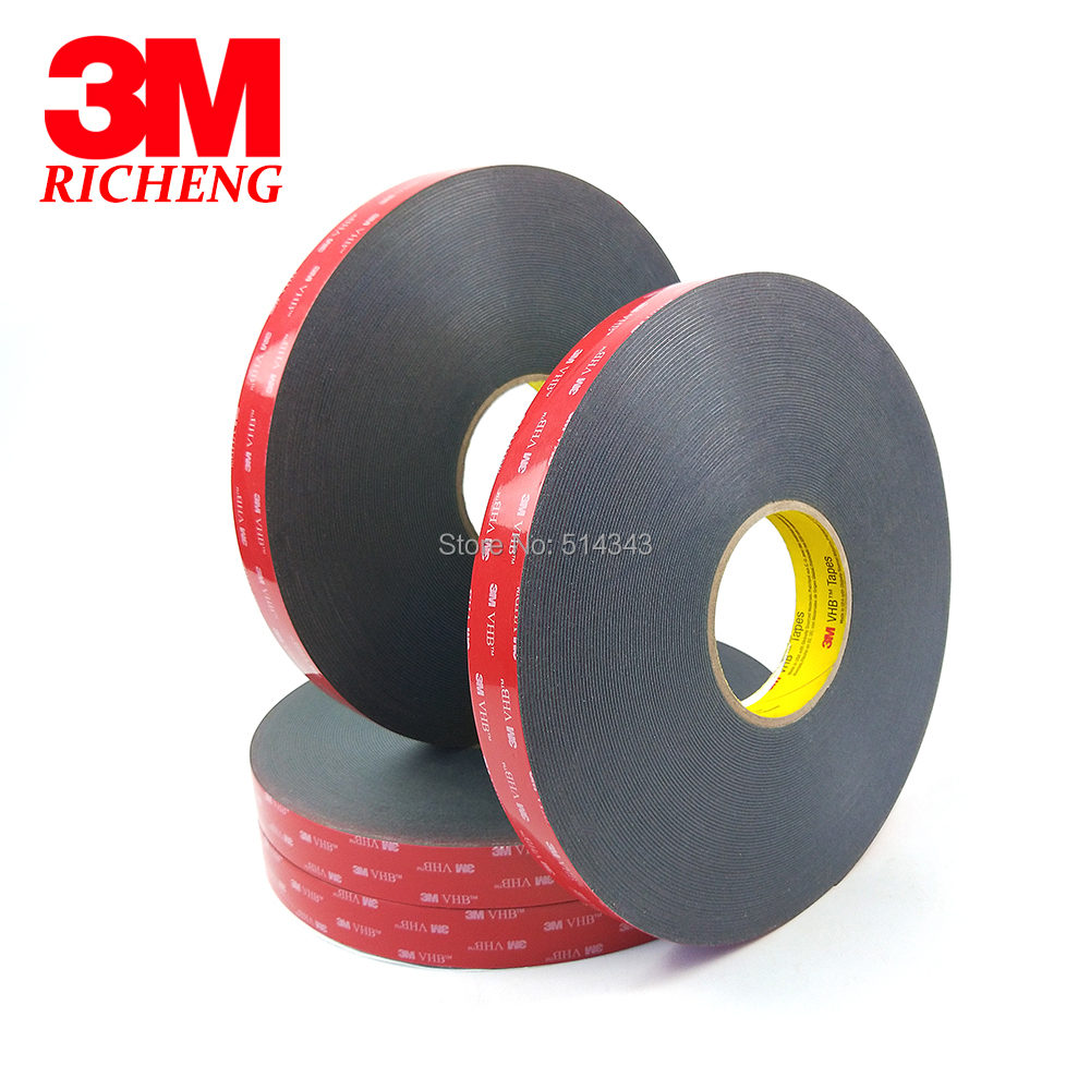 3M VHB 5925 Double Sided Adhesive Waterproof Acrylic Foam Tape 20MM*33M 1ROLL/LOt 1piece 3m vhb 5952 heavy duty double sided adhesive acrylic foam tape black 150mmx100mmx1 1mm