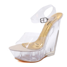 Peep Toe Party Ladies PVC Sexy Nightclub Shoes Summer High Heels Transparent