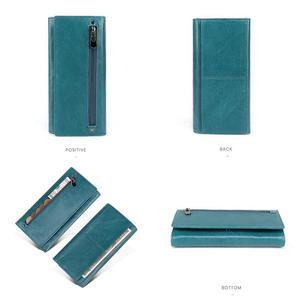 Image 4 - JOYIR Genuine Leather Women Wallet Multifunction RFID Wallets Brand Purses Carteira Fashion Female Card Holder Wallet Phone Bag