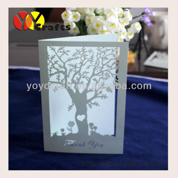 cut wedding souvenirs decorations flower tree invitations card gifts ...