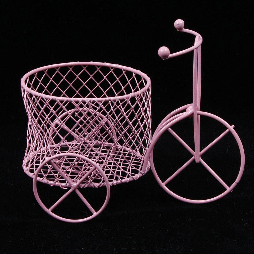 Cute Iron Tricycle Art Decoration Wedding Sugar Jewelry Container Storage Holder