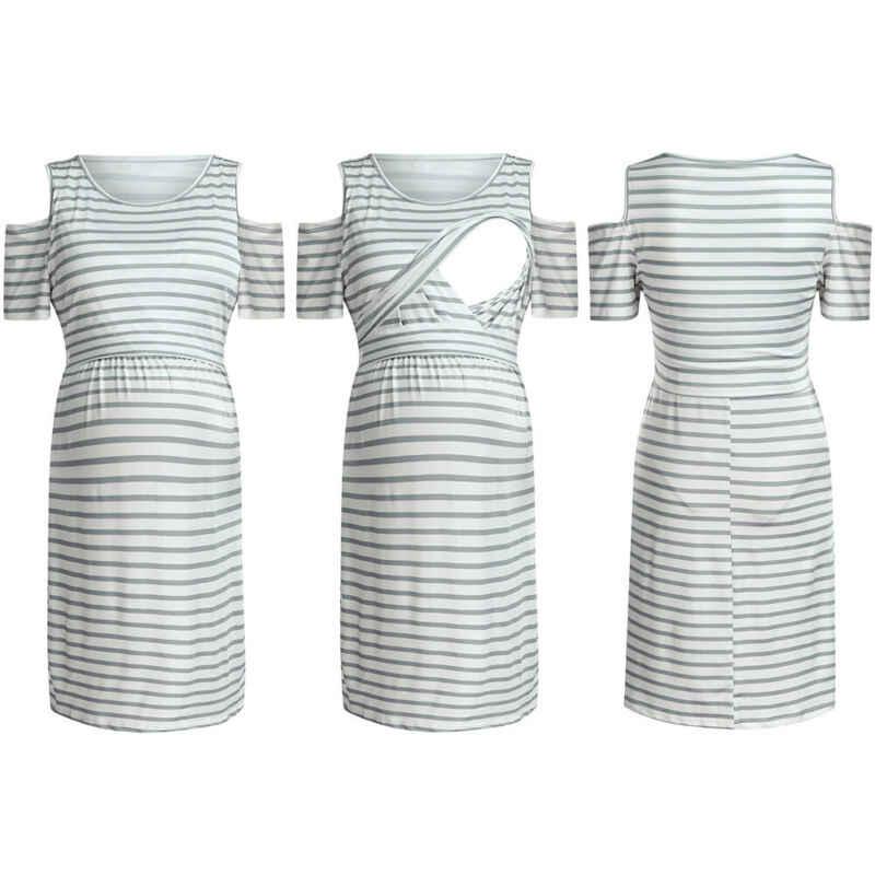 Robe de grossesse d'été sans manches   Vêtements de maternité, épaules dénudées, robe d'été, 2019