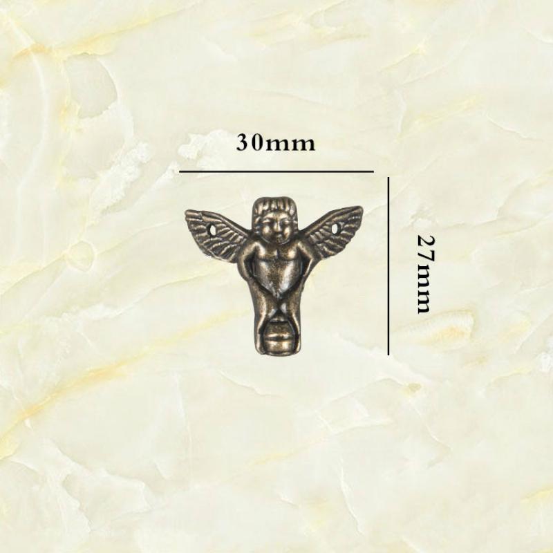 JD 8pcs 30*27mm Mini Angel Antique Foot Zinc Alloy Foot Decoration Cabinet Foot Wooden Box Four Sides