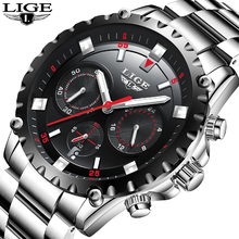 Mens Watches LIGE Top Brand Luxury Men Military Sports Watch Men's Waterproof Quartz Wrist Watch Male Clock Relogio Masculino цена в Москве и Питере