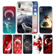 Turkey Flag And Wolf Case for iPhone XS Max XR X 10 7 7S 8 6 6S Plus 5S SE 5 4S 4 5C Hard Fundas 11 Pro Luxury Phone Cover Coque flag turkey flag ultra thin cartoon pattern hard back phone case for iphone 7 7s ccase