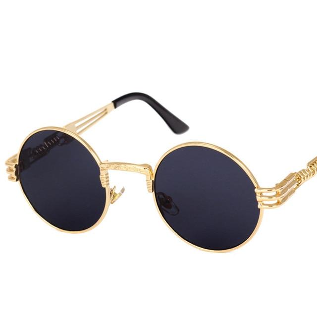 2019 Mode Cat Eye lunettes de Soleil Hommes Ronde Carré De Luxe Marque  Desgin Vintage Miroir 081cb6e0173c