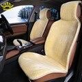 2 шт передние авто меховая универсальная автомобильная накидка чехол на сиденья для автомобиля авточехол искуственный мехдля сидений автомобиля renault logan  желтый цвет 2016 продаж i014-2