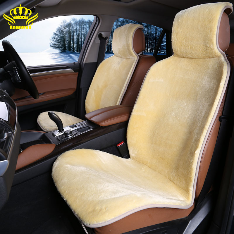 2 pc front cars fur cape universal car seat covers for car renault logan avtochehol artificial Yellow color 2016 sales i014-2 color block geometrical cape