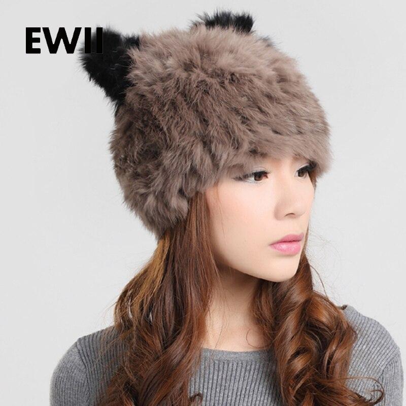 2017ใหม่ในช่วงฤดูหนาวผู้หญิงหมวกหมวกหญิงจริง