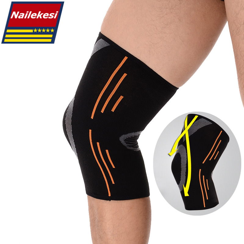 2019 Breathable Basketball Football Sports Safety Kneepad High Elastic Volleyball Knee Pads Brace Training Knee Support Protect