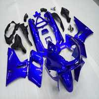 Custom+Screws Injection mold blue motorcycle fairing for ZZR400 1993-2007 ZZR 400 93 07