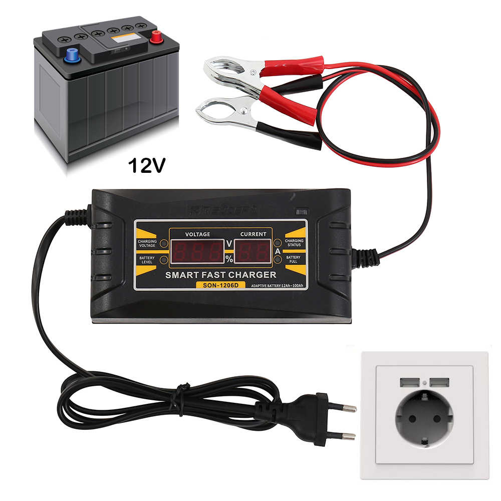 How To Charge A Car Battery Without A Charger >> Full Automatic Car Battery Charger 110v 220v To 12v 6a 10a