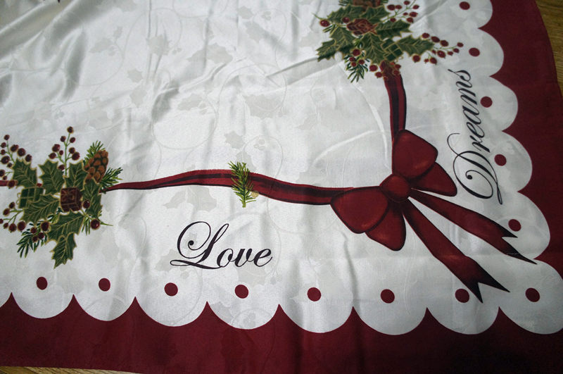 Xmas Table Linen Part - 22: Aliexpress.com : Buy Homewear Table Linens Peace Joy Christmas Embroidery  Table Runner Super Long Satin Tablecloth Xmas Table Flag Towel Cloth Covers  From ...