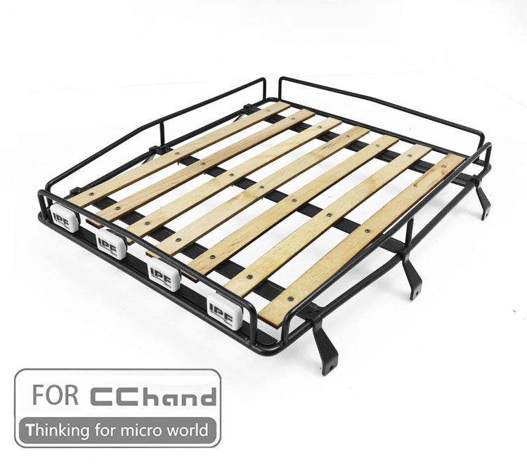 metal roof rack with board ipf Shoot the light for CChand RC4WD 1 10 FJ40