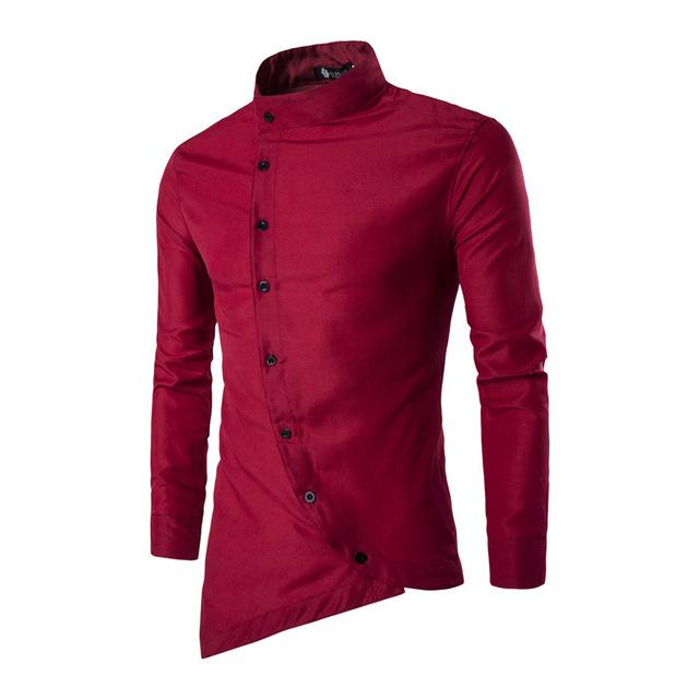 Primavera Otoño Nueva Llegada Características Camisas Hombres Casual vestido de noche Cómoda Camisa de Manga Larga Casual Slim Fit Camisas Masculinas