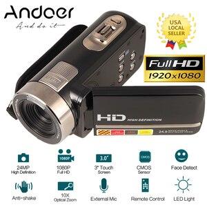 """Image 1 - Caméra vidéo numérique caméscope 3.0 """"LCD écran tactile DV 24MP 1080P Full HD HDMI AV caméra numérique télécommandée de nuit"""