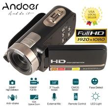 "Videocámara Digital con pantalla táctil LCD de 3,0 "", DV, 24MP, 1080P, Full HD, HDMI, AV, Control remoto de Toma nocturna"