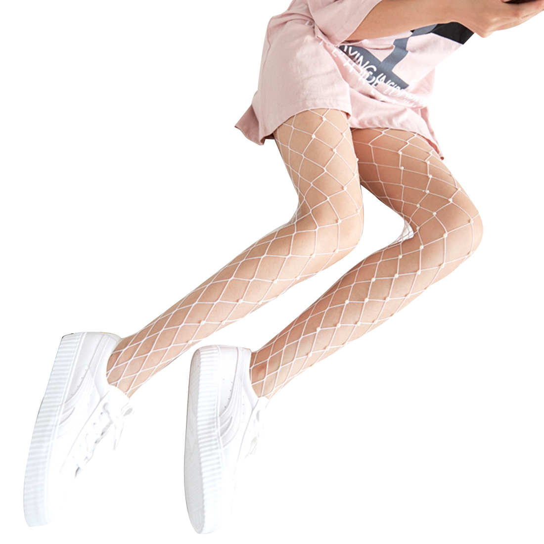 e80cf71295dc6 Detail Feedback Questions about Fashion Chic Women's Fashion Tights  Imitation Pearls Fishnet Stockings Ladies Hollow out Mesh Fishnet Pantyhose  Female ...