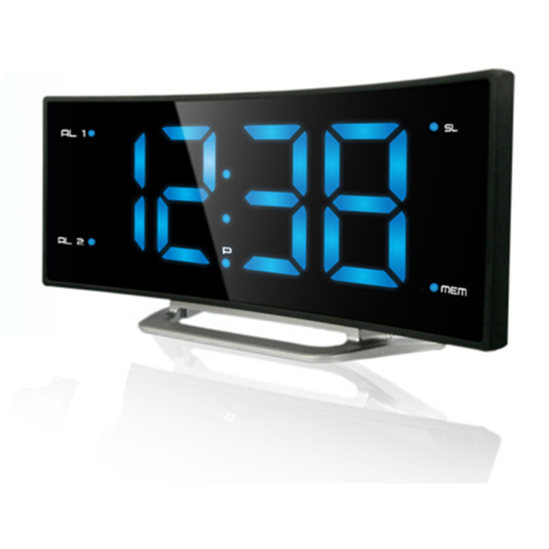 NEW! Arc LED digital Alarm Clock Desk electronic radio ...