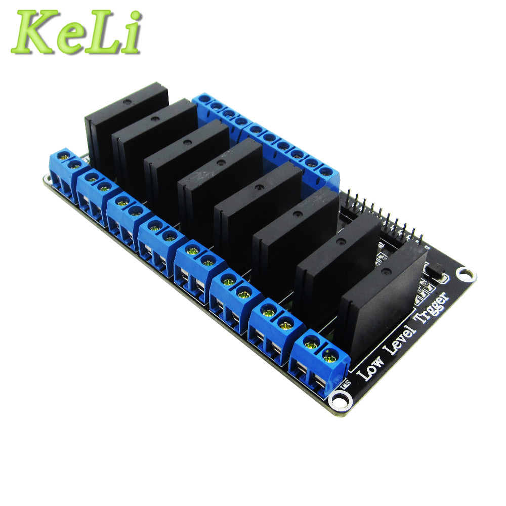 10pcs 8 Channel 5V DC Relay Module Solid State Low Level SSR AVR DSP 2A 240V