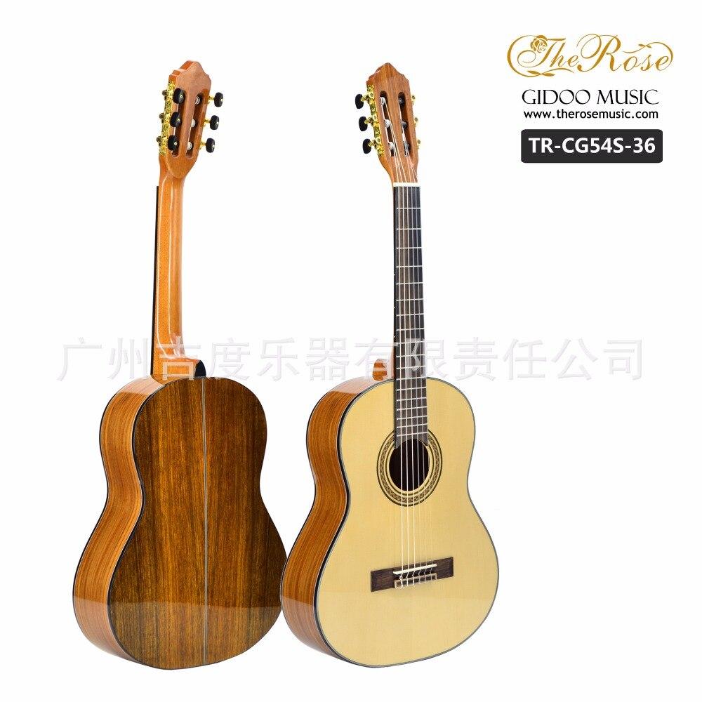 Flattop Classique Acoustique Guitare 36 39 Pouce Flamengo Guitarra 6 Chaîne Rouge Pin Picea Noyer Rouge Corps de Lumière Standard Taille