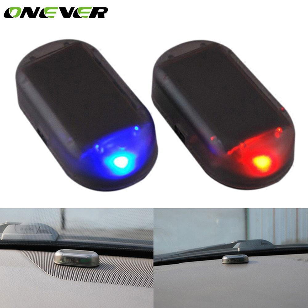 onever simulate solar car anti theft alarm led light. Black Bedroom Furniture Sets. Home Design Ideas