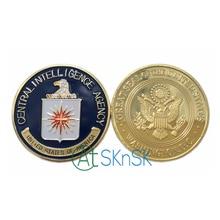 100 шт. Оптовая Центральное Разведывательное управление США Монета Красочные Pure Позолоченные Монеты ЦРУ Вызов Монета Новая Военная Металлические Монеты