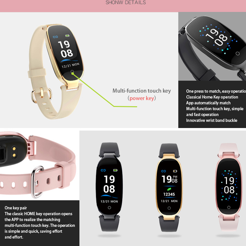 Image 5 - S3 Plus Smart Watch Color Screen Waterproof Women smart band Heart Rate Monitor Smartwatch relogio inteligente For Android IOS-in Smart Watches from Consumer Electronics