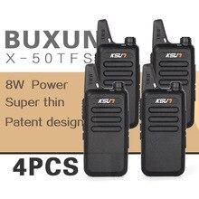 (4 PCS)KSUN X-50TFSI Ham Two Way Radio walkie talkie Dual-Band Transceiver BUXUN X-50(Black)