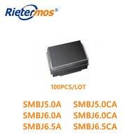 100 PCS SMBJ5.0 SMBJ5.0A SMBJ5.0CA SMBJ6.0 SMBJ6.0A SMBJ6.0CA SMBJ6.5 SMBJ6.5A SMBJ6.5CA SMB di ALTA QUALITÀ