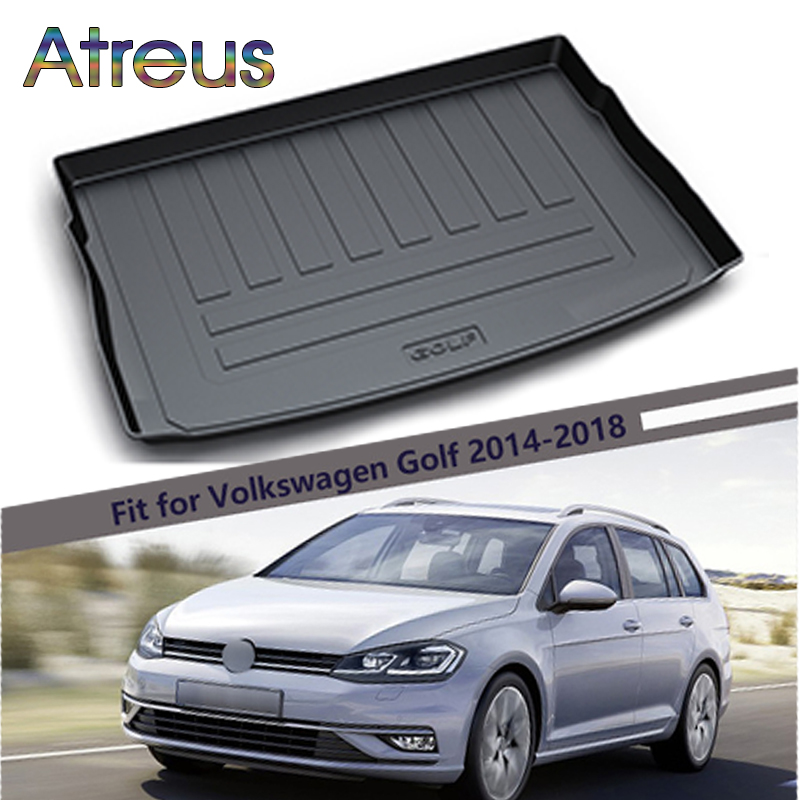 Atreus For 2014-2018 Volkswagen Golf 7 VW Golf GTI R MK7 Accessories Car Rear Boot Liner Trunk Cargo Mat Tray Floor Carpet Pad