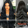 Fashion Body Wave Synthetic Wigs With Baby Hair Heat Resistant Synthetic Lace Front Wig For Black Women Half Hand Glueless Wigs